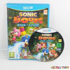 Sonic Boom Rise of Lyric - Boxed & Manual - VGC - Nintendo Wii U PAL