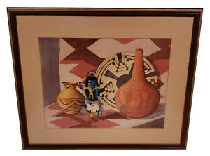 VINTAGE SOUTHWEST STILL LIFE WATERCOLOR PAINTING FA FRED A LAUPER TUCSON ARIZONA