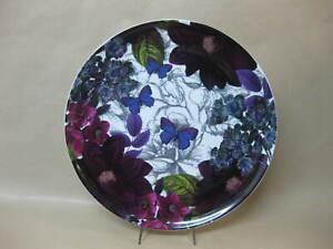 "Large Sainsbury's Ceramic Plate / Butterflies & Flowers ~ 12 3/4"" ~ 32.5 cm"