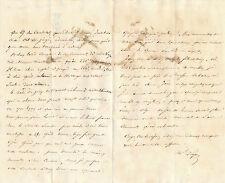 Militaire Saint Cyr Marechal Pelissier lettre autographe signée élève Alger