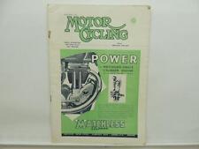 Nov 1951 Motorcycling Magazine Matchless Clubman Esso Velocette Triumph L8572