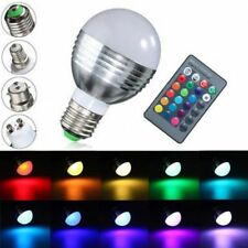 E27/B22/GU10/E14 5W RGB LED Light Color Changing Lamp Bulb + Remote AC 85-265V