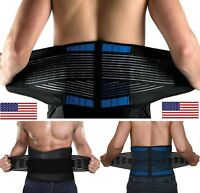 NEOPRENE DELUXE BELT DOUBLE PULL Lumbar Lower Back Support Brace - Many Sizes
