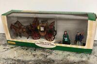 Christmas Coach Set of 3 Village Women Man Figurine Carriage Kid Horse Lemax New