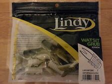 "5 packs Lindy Watsit Grub Green Pumpkin black flake 10 bodies. 2"" long or mix"
