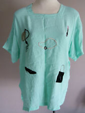 SALE AQUA Ladies Trendy Stylish Chic Top w/ Fashion Accessories Print Size 16