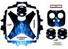 Blue Fire DJI Phantom 4 P4 Skin Wrap Decal Sticker Vinyl Ultradecal Skinz