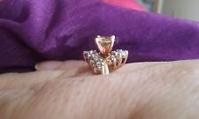 Yellow moissanite ring, size 9 (sizeable) 10 kt yellow gold .92 carats