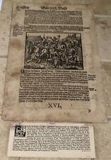 16th CENTURY MARTIN LUTHER'S GERMAN TRANSLATION BIBLE 1584 ILLUSTRATED FRAKTUR