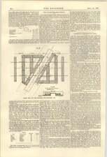 1900 Swing ponte sul fiume AIRE disposizione delle parti