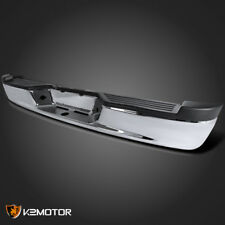 2005-2011 Dodge Dakota Chrome Rear Bumper Step Face Bar+Step Pad+Brackets+Lamps