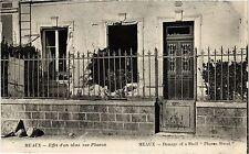 CPA MILITAIRE Meaux-Effet d'un obus, rue Pharon (316988)