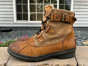 Women's Ugg Cecile Leather Waterproof Shearling Insole Boots Size 8.5 1007999
