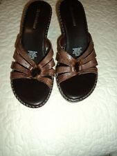 Naturalizer Brown Slide Heeled Sandals  745NM37 Women's 8 M  (NEW)