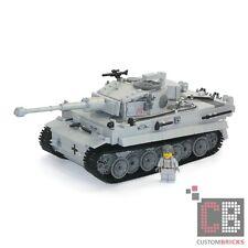 CB CUSTOM Modell WW2 WWII PzKpfw 6 Panzer Tank Tiger E MOC aus LEGO® Steinen