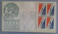 First day of issue 1959 Honoring the Pan American Games ,plt block 4, Scott #C56