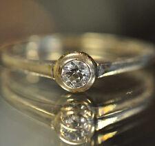 antiker Jugendstil Diamantring Solitär-Ring 585 Weissgold Altschliffdiamant