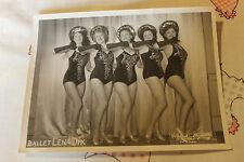 2 photos du ballet LENA DIX Hélene danceuse nue chanteuse de cabaret  30 40