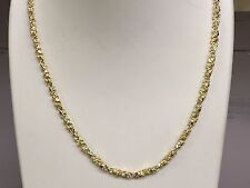 "10kt solid Yellow gold handmade NUGGET link chain/necklace 24"" 30 grams 4 MM"