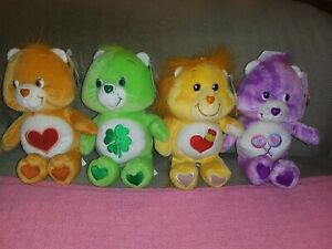 """9"""" Care Bear Lot Of 4 New with Tags"""