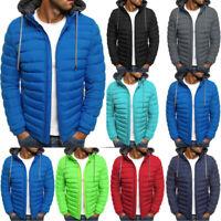 Men's Hoodie Padded Coat Jacket Puffer Bubble Winter Warm Coats Zip Up Outwear