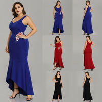 Ever-Pretty Plus Size Long Formal Cocktail Gown Lace Fishtail Party Prom Dress