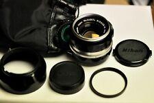 Nikon Nippon Kogaku Nikkor-S 50mm f1.4 manual focus non AI lens w/accessories.