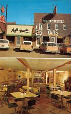 NIGHT HAWKS CAFE & RODEO ROOM Camdenton MO Bowling Alley Roadside Postcard 1950s