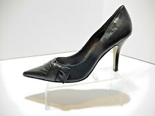 Nine West Women's  Black Leather Shoes Size 10M use 1 time. fair price ..