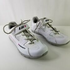 LG Louis Garneau Womens US 10 Cycling Spin Multi Shoes White Pink 4 Bolt