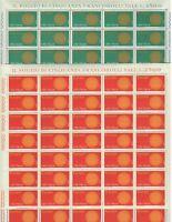 S23564) Italy 1970 MNH New Europa 2v Sheets Whole Not Folded