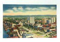 Savannah Georgia Aerial View Linen Vintage Postcard