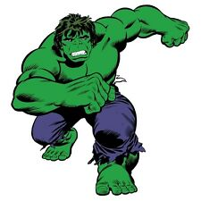 "CLASSIC INCREDIBLE HULK wall stickers MURAL 21 decals Marvel 42"" tall superhero"
