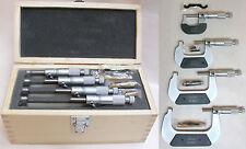 DIN 863 Mikrometer Satz 0-100mm  MATTVERCHROMT, Micrometer Bügelmeßschraube Set