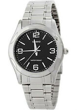 Casio MTP1275D-1A2 Mens Stainless Steel Dress Watch Black Dial