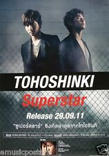 "TOHOSHINKI ""SUPERSTAR"" ASIAN PROMO POSTER (U-KNOW & MAX) - TVXQ, DongBangShinKi"