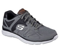 Charcoal Skechers Shoe Men Comfort 58350 W Wide Fit Mesh Train Sport Memory Foam