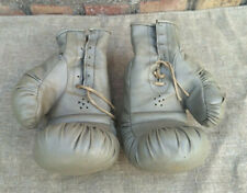 Leather Boxing Gloves Vintage Russian Soviet USSR