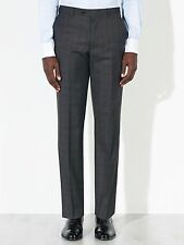 John Lewis Grey Super 100s Wool Sharkskin Check Tailored Trouers - Size 36L £80