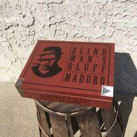 Blind Man's Bluff Maduro Toro Empty Wooden Cigar Box 9x7x2