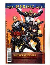 Secret Avengers #1 (2010, Marvel) VF+ The Heroic Age Variant Cover