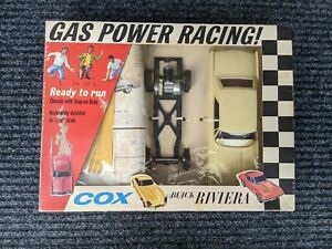 COX VINTAGE 1/20 BUICK RIVIERA GAS POWERED CAR in BOX - ORIGINAL TOY 1963
