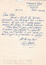 Letter Signed Basil Martin Flight Engineer  Crew on Harlow Lancaster 218 Sqn