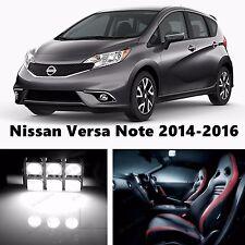 8pcs LED Xenon White Light Interior Package Kit for Nissan Versa Note 2014-2016