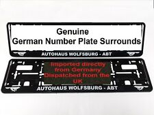 VW Golf Wolfsburg Number Plate Surrounds ABT TUNING GTI R32 - Pair