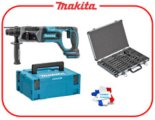 MAKITA DHR241ZJ Perforateur Burineur SDS-Plus 18 V (machine nue) + Burins Forets