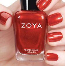ZOYA ZP810 EMBER ~ metallic, fiery red shimmer nail polish ~ FLAIR Fall 2015 NEW