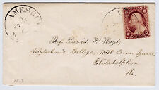"#26A-3 Cents 1857, 42R11e, ""AMESBURY SEP 30 Ms.""- Prof Hoyt, Polytechnic College"