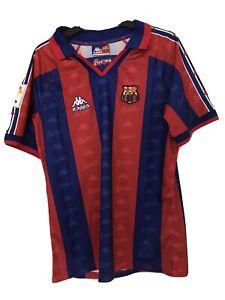 Barcelona Home Football Shirt Retro 1996/97 Romario 10  Kappa Medium