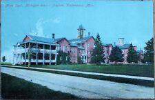 Kalamazoo, MI 1910 Postcard: Michigan Insane Asylum, Male Dept. - Mich